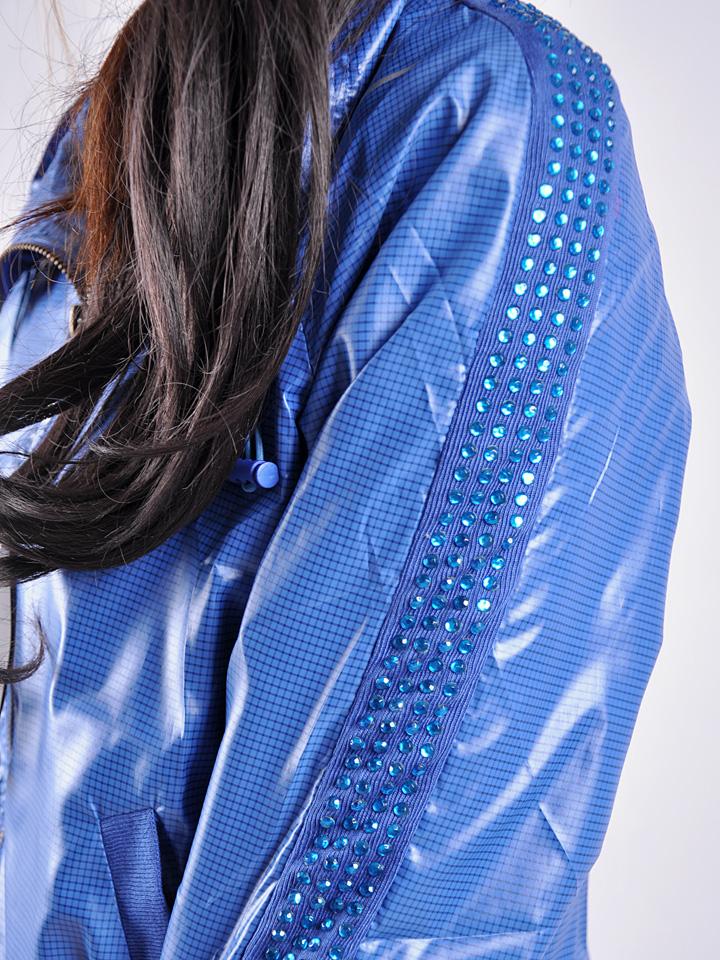 Shiny Blue Nike Tracksuit Sleeve