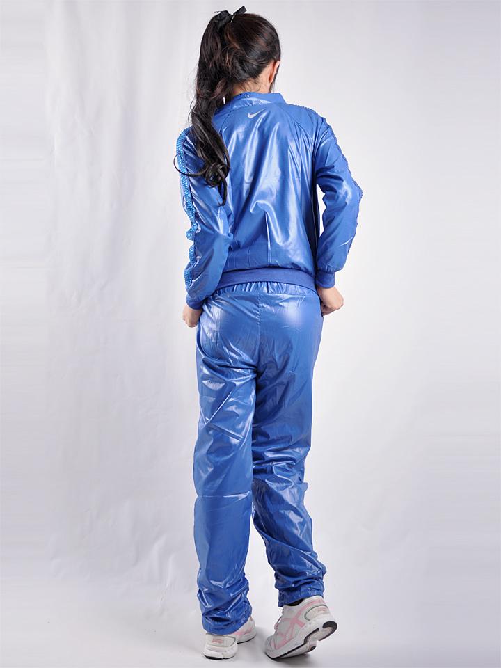 Shiny Blue Nike Tracksuit Rear View
