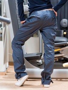 Women's Shiny Blue Rebook Athletic Pants Back Side
