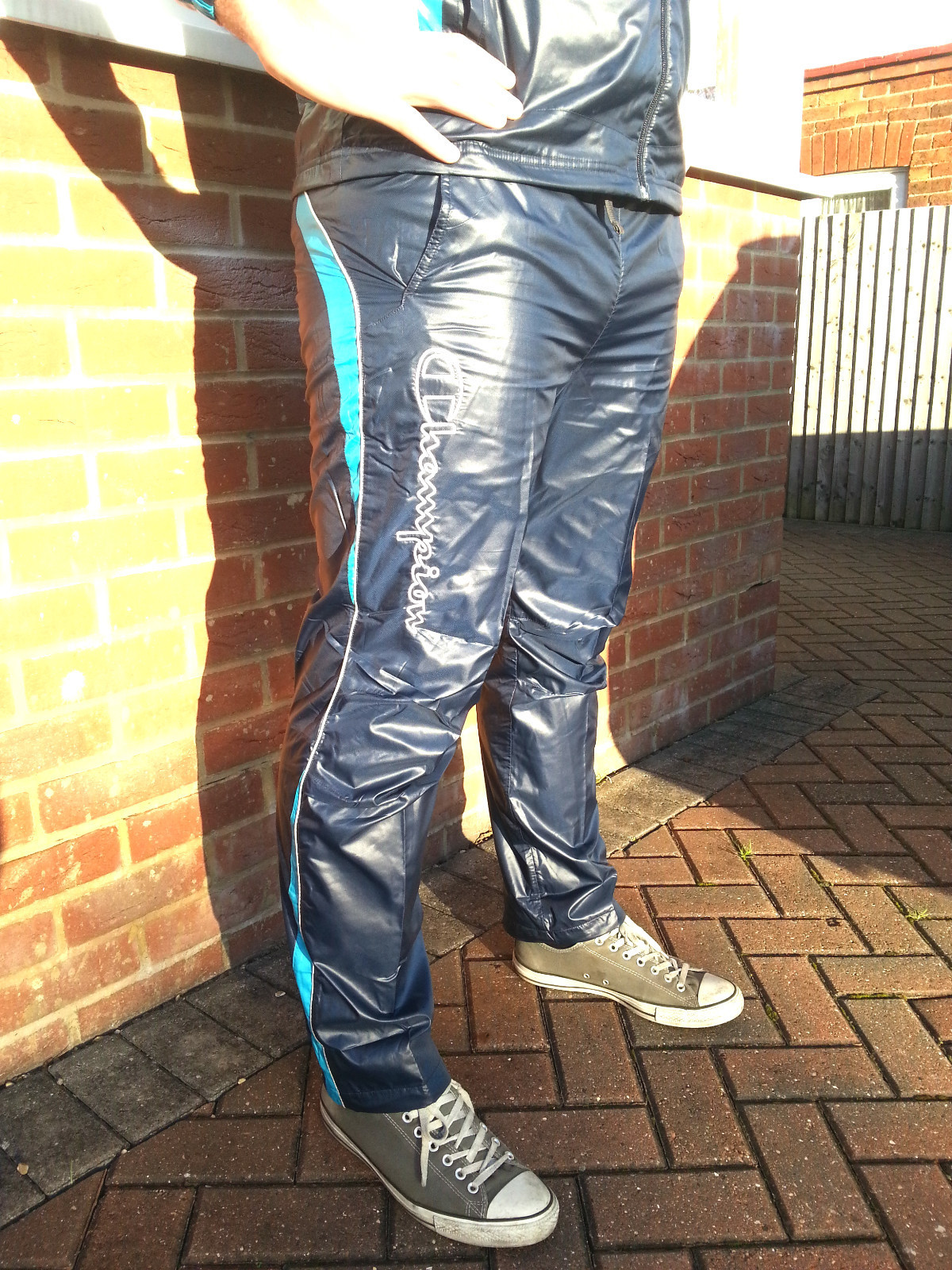Men's Champion Shiny Tracksuit Nylon Pants