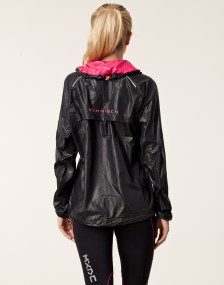Rohnisch Alba Running Jacket in Black Back View