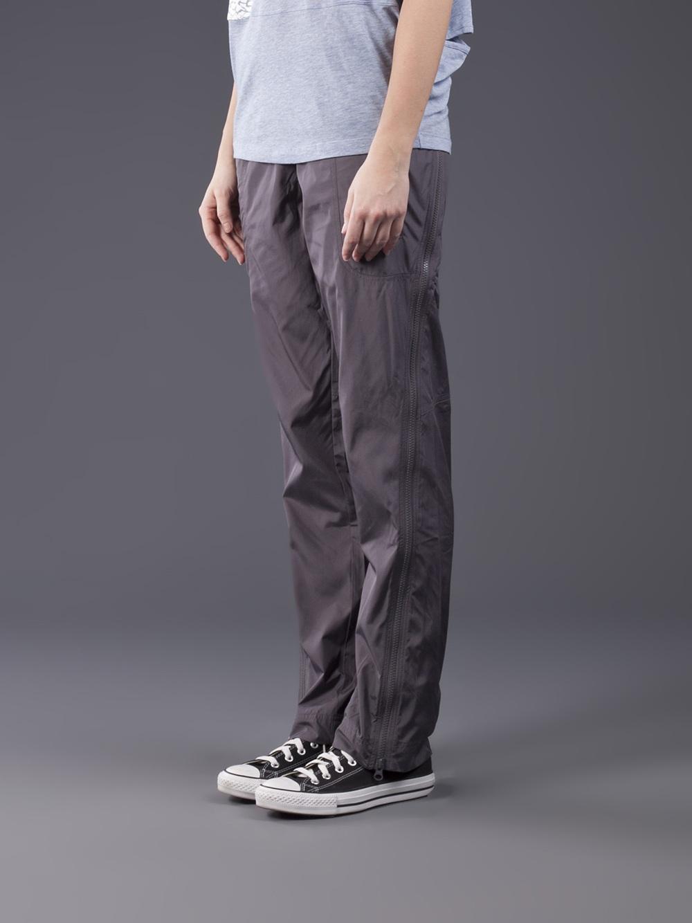 Adidas Stella McCartney Pants Studio Woven in Charcoal Gray Profile View