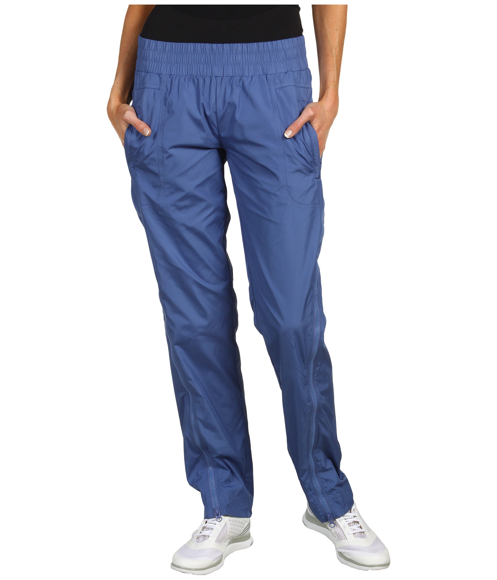 Adidas Stella McCartney Studio Woven Pants in Baby Blue Front View