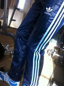 Blue Cal Surf Shiny Pants Side View