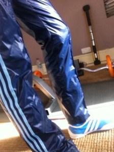 Blue Cal Surf Shiny Nylon Pants