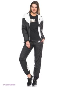Black Women's Nike Tracksuit Full View