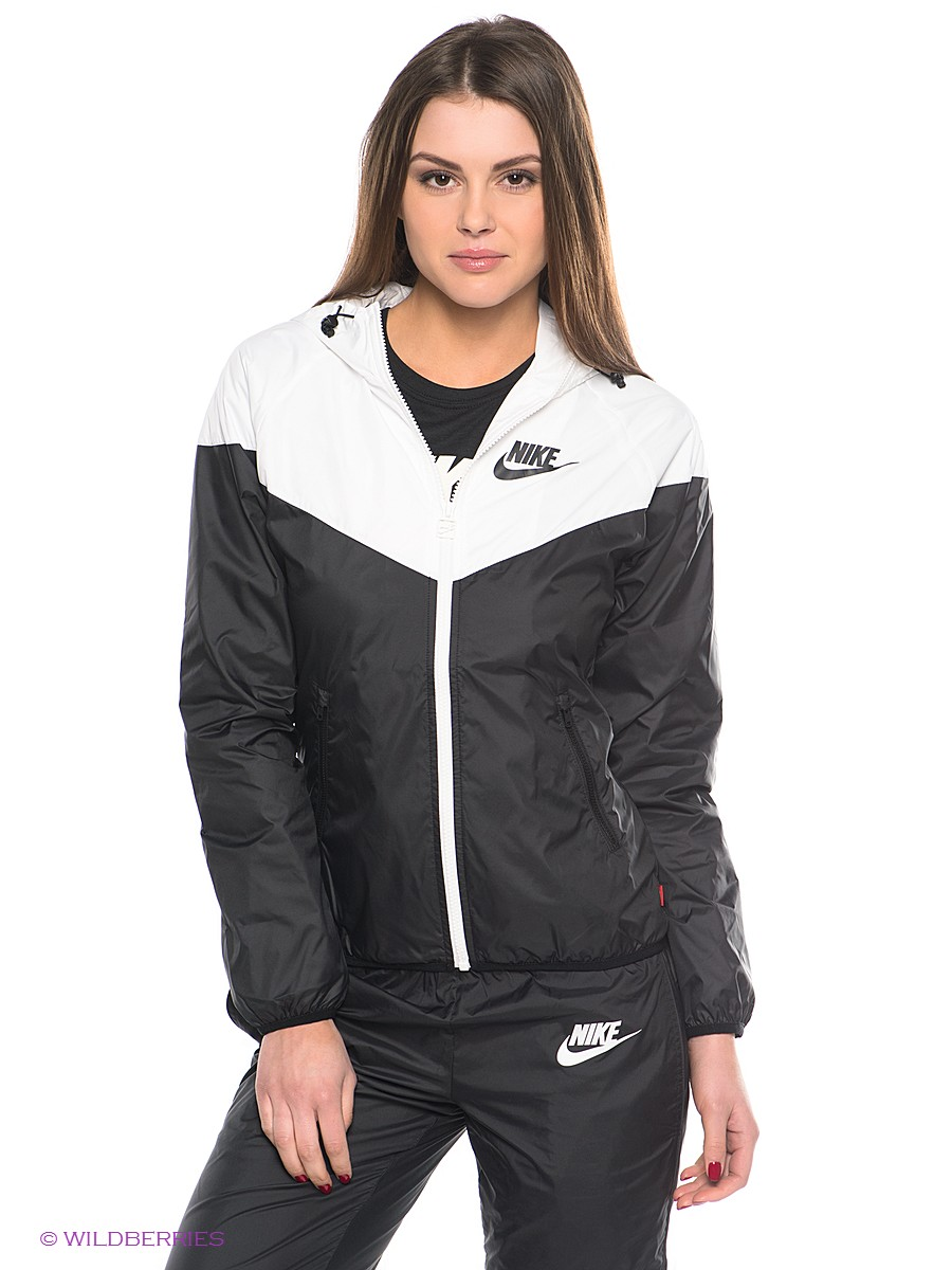 Black Women's Nike Tracksuit Front View