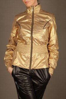 Black and Gold Stayer Tracksuit 1