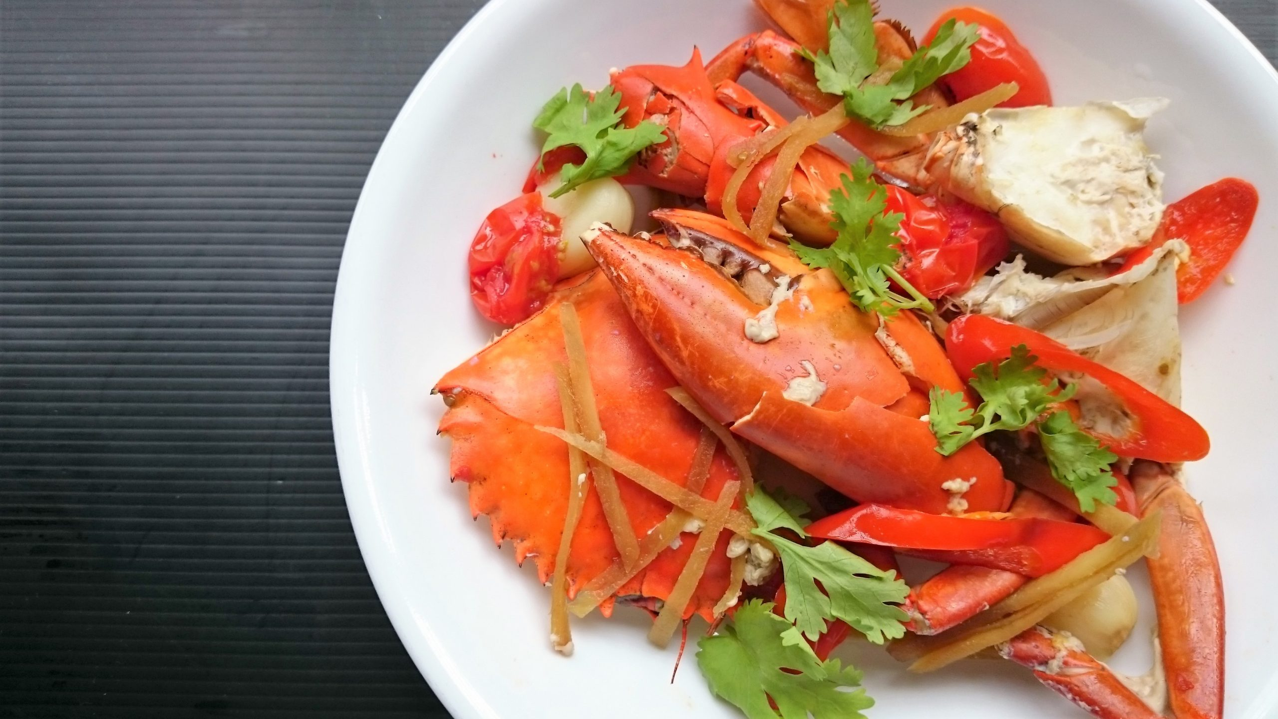 Steamed Crabs With Ginger And Garlic Shiokman Recipes