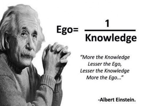 The arrogance of building a perfect product has to do with ego. Like Albert Einstein explains in his formula.