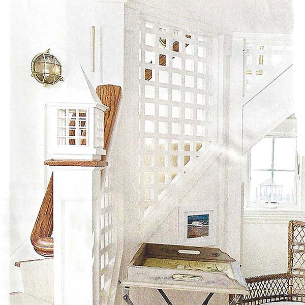 Nautical Stair Light in Coastal Living Magazine by Shiplights
