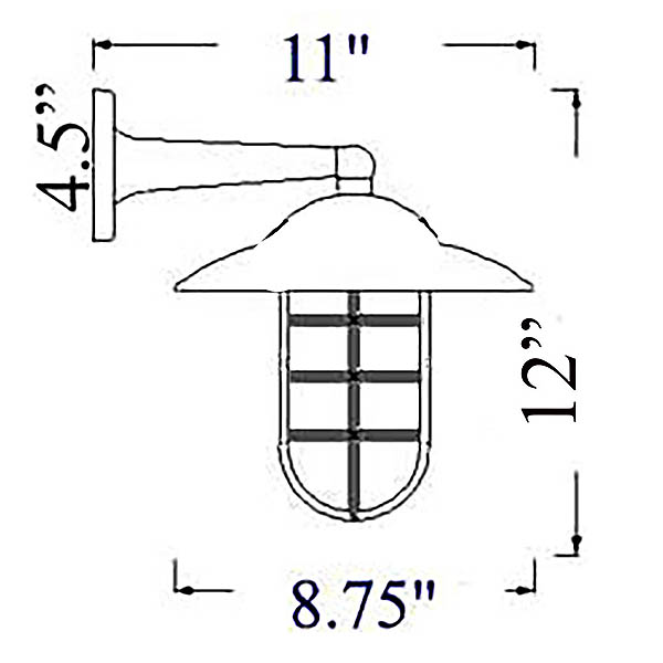 Shiplights Starboard Sconce Diagram (H-2)