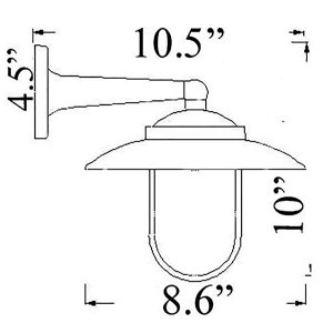 NC-2 Modern Wall Sconce Diagram