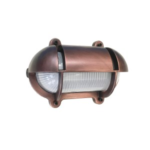 Oval Bulkhead Light with Eyelid Antique Copper (O-6)