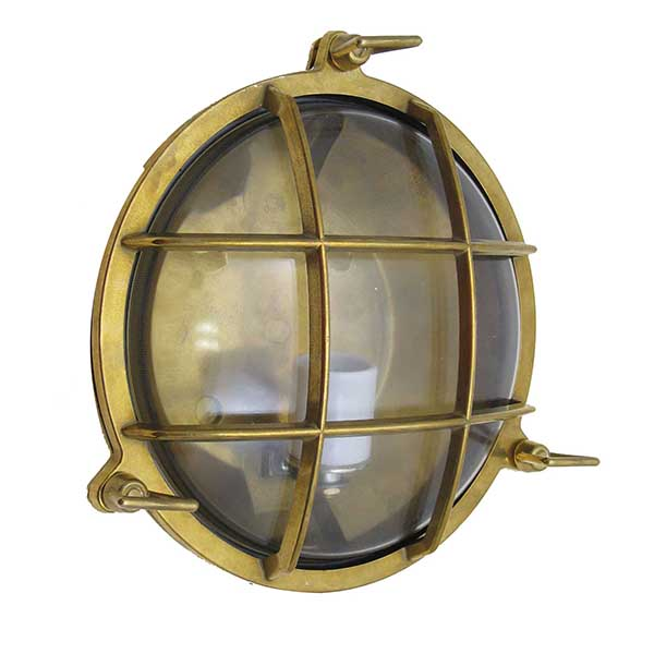 Round Bulkhead Cage Light by Shiplights (R-1)