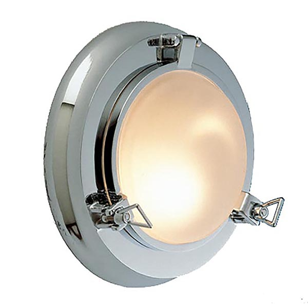 Chrome Porthole Sconce by Shiplights