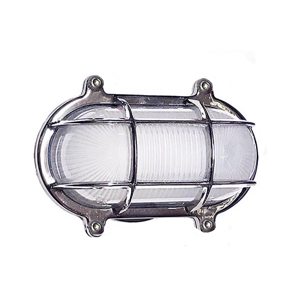 Small Oval Cage Light W Screws Shiplights