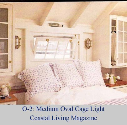 Medium Oval Cage Light in Coastal Design Magazine
