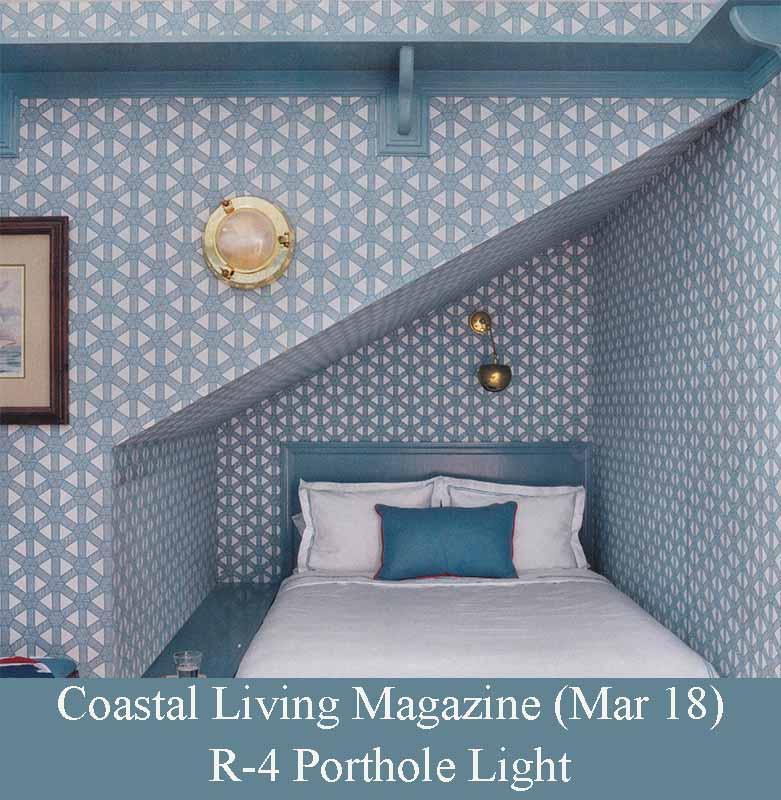 Porhole Brass Light by Amal Kapen in Coastal Living Magazine