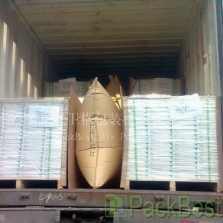 airbag dunnage to prevent cargo movement inside a container