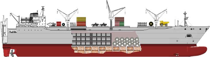 break bulk vessel - bulk and break bulk
