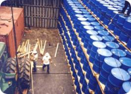 Drummed cargo - bulk and break bulk