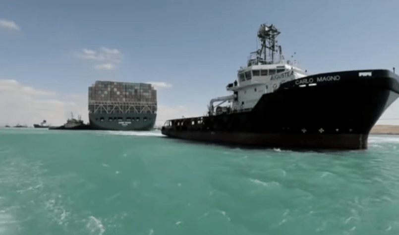 Ever Given towed to Great Bitter Lakes - shipping and freight resource