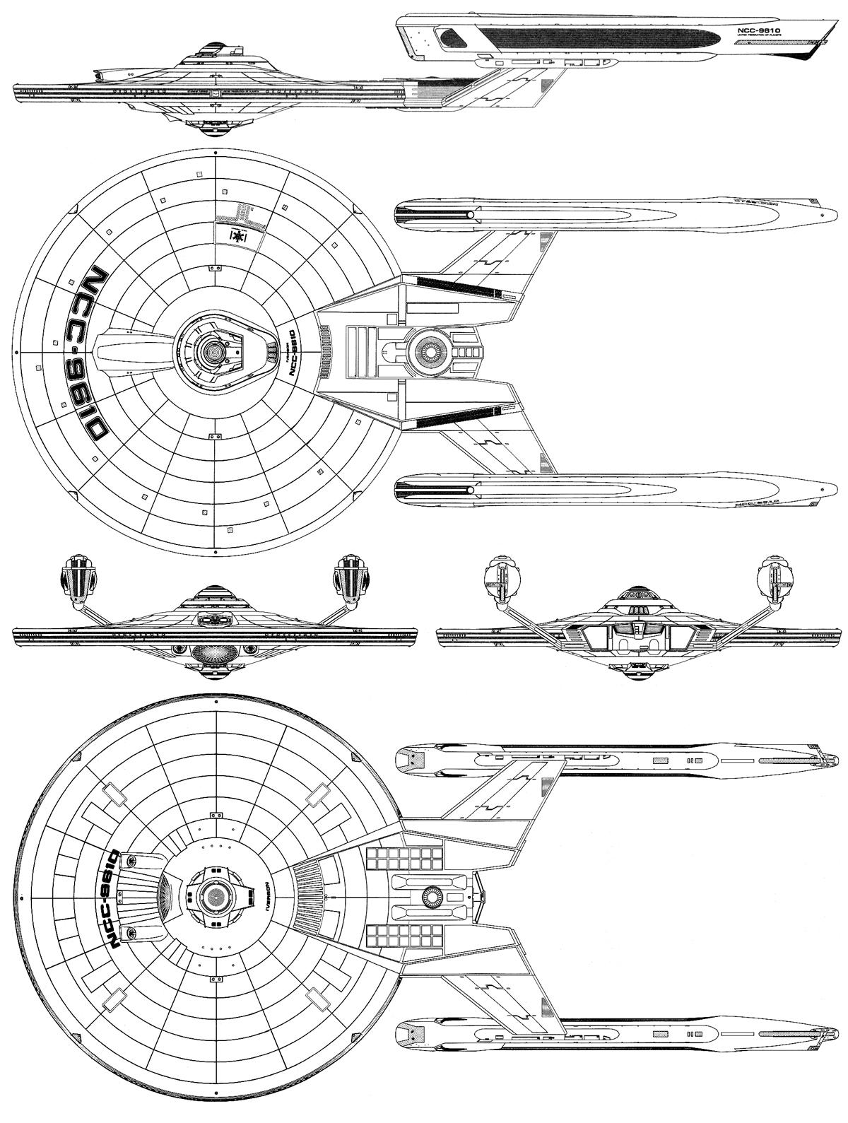 Iverson Class Ix Cruiser Fasa Star Trek Starship