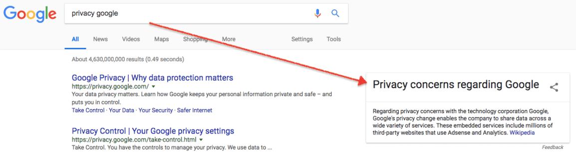 隐私 - 关注有关与谷歌