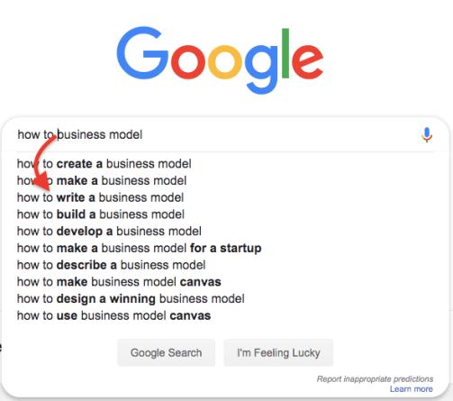 google-autosuggests-business-model