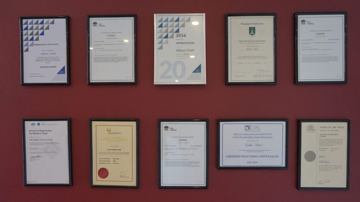 Awards and Recognitions Shire Conveyancer