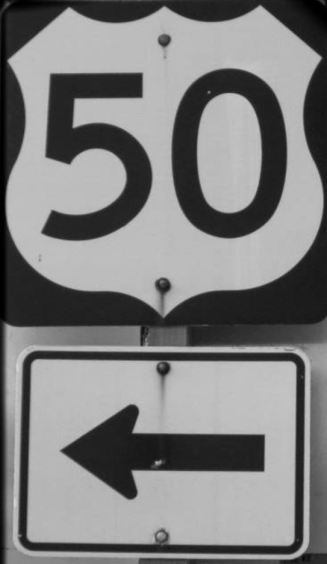 US Route 50 road sign