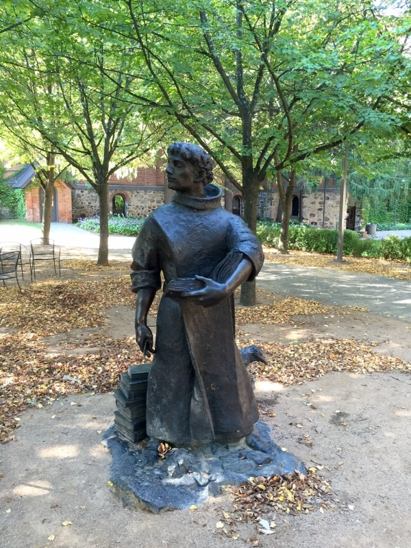 St. Benedict (480-550), author of The Rule of Life. Sculpture by David Paul Lange, O.S. B. and Steven Lemke, St. John's University '08. 2012