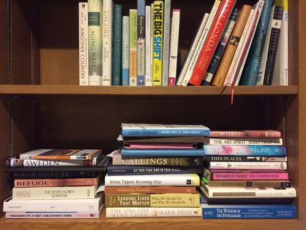 My book shelf next to my desk. These are my vocation and vacation books. :-)