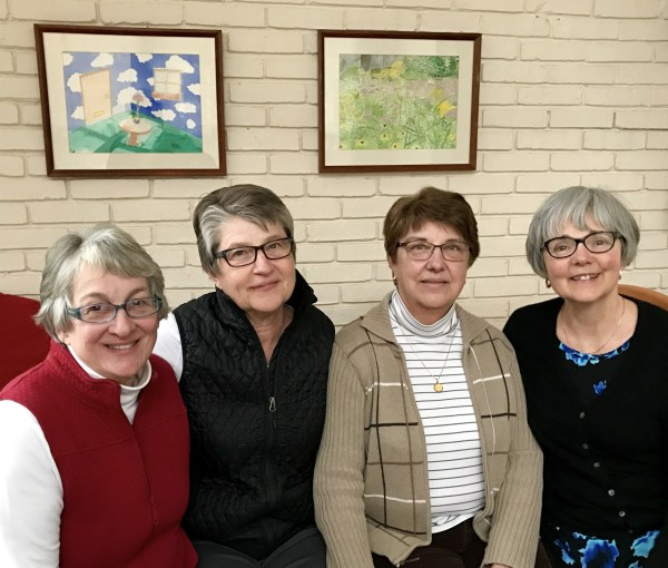 Gloria, Tina, Mary, and me --four friends of 50 years. Our first gathering of 2017.