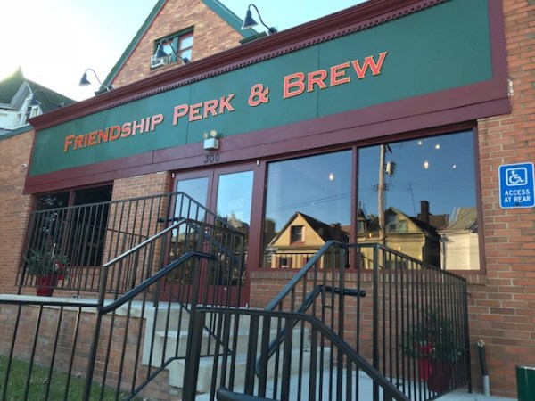 Friendship Perk and Brew opened a few months after we arrived in Pittsburgh. An easy walk from our house, this blend of coffee shop and bar feels like Cheers to us.
