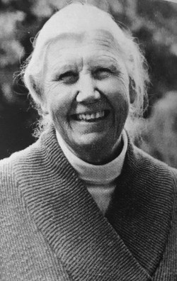 Elise Boulding in the 1980s, from the book Elise Boulding: A Life in the Cause of Peace by Mary Lee Morrison