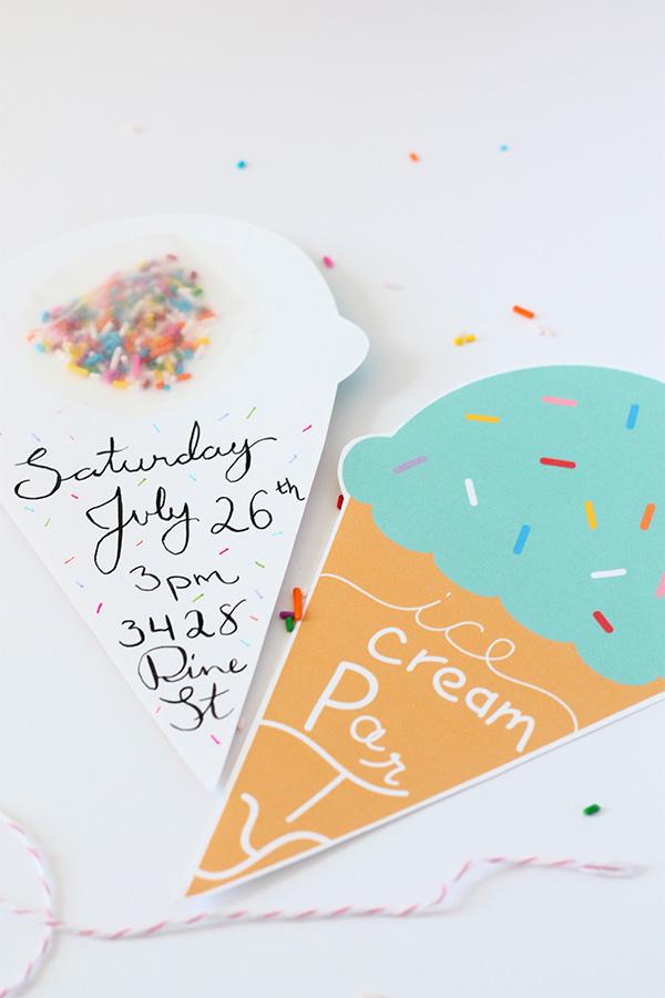 הזמנות ליומולדת גלידות - החיים לפי שירלי