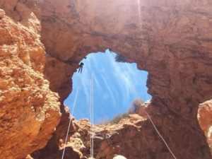 סנפלינג במערת קשת - חוויה מלאת אדרנלין ונוף