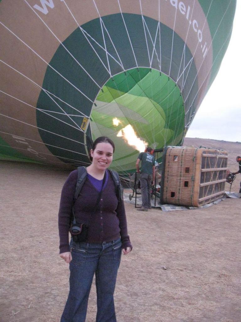טיסה בכדור פורח - ניפוח הבלון