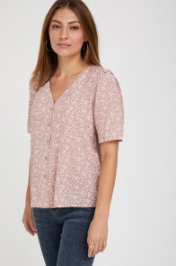 מומה - חולצת נונה פרינט ורודה - קולקציית חג