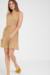 שמלת ליאן פרינט חרדל - שמלות לראש השנה