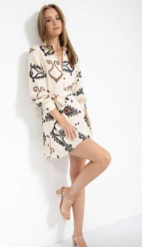 שמלה מודפסת נועה - רנואר