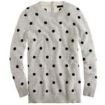 J.Crew Collection cashmere polka-dot sweater-DuskBlack