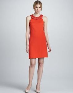 Buy Diane von Furstenberg CeeCee Enamel Beading Dress from Neiman Marcus