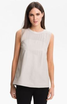Lafayette 148 New York Tissue Weight Lambskin Top