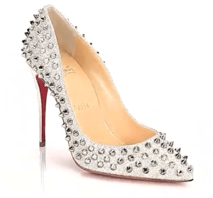 Christian Louboutin Follies Spiked Glitter Pumps