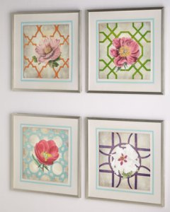 "Buy Florence de Dampierre ""Trellis Geometry Flowers"" Prints from Neiman Marcus"