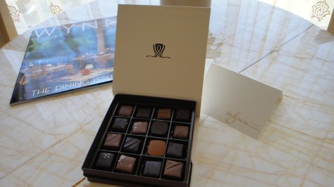 Complimentary Chocolate for Tower Suite Guests