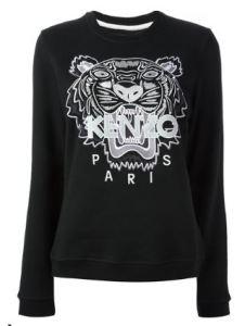 Kenzo Embroidered Logo Print Sweatshirt
